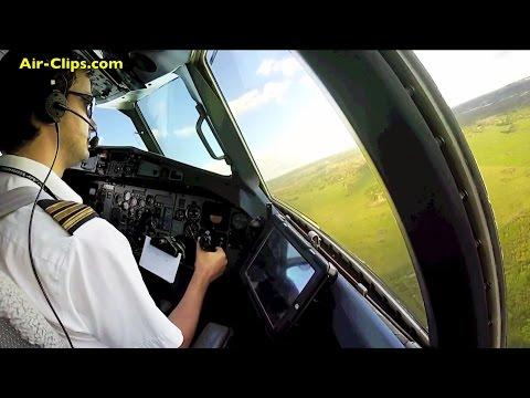 Air Vanuatu ATR 72 COCKPIT Take-Offs and Landings - BREATHTAKING!!! [AirClips full flight series]