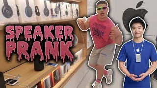 SPEAKER PRANK IN APPLE STORE!