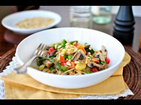 Roasted Vegetable Pasta Primavera + A Giveaway!