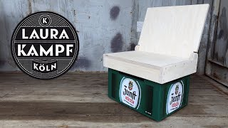 The Beer Case Chair - folding plywood chair