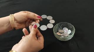 One minute kitty party game, fun with coins