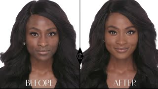 How to cover up large pores: Charlotte Tilbury Magic Foundation Makeup Tutorials with BeautybyJJ