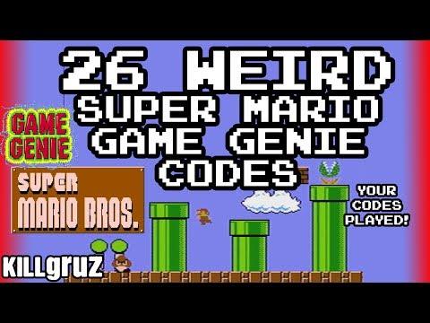 26 WEIRD Super Mario Game Genie Codes - Killgruz