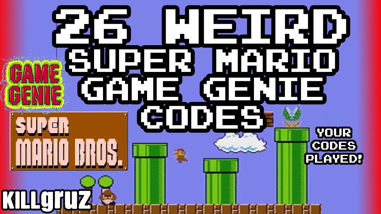 26 WEIRD <b>Super Mario Game Genie Codes</b> - Killgruz - YouTube