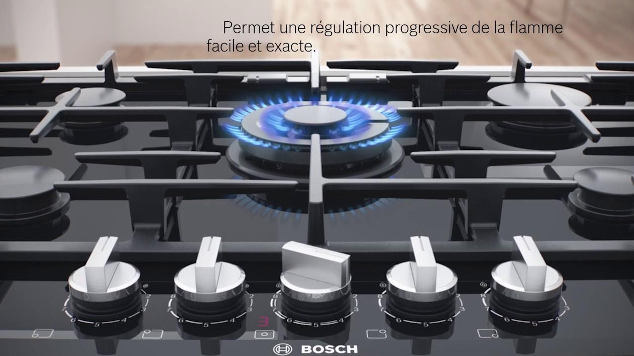 Table De Cuisson Gaz Et Electricite table gaz flameselect bosch : sélectionnez l'intensité de votre flamme !
