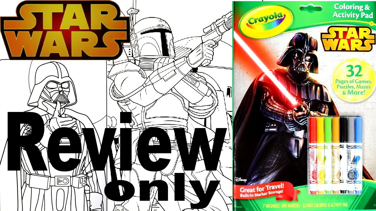 full coloring and activity book review star wars crayola youtube
