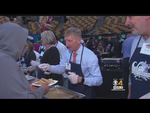 TD Garden Hosts Thanksgiving Dinner For Boston Homeless