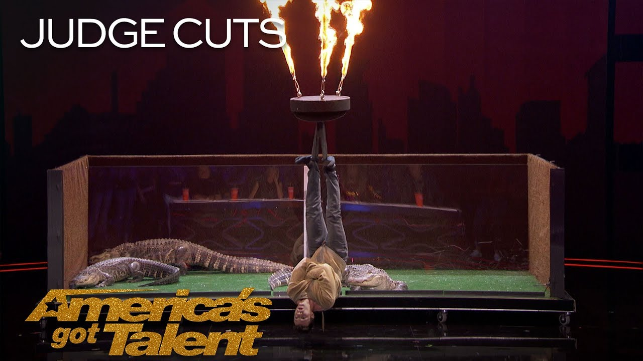 Lord Nil Nearly Eaten Alive By Alligators In Dangerous Stunt - America's Got Talent 2018