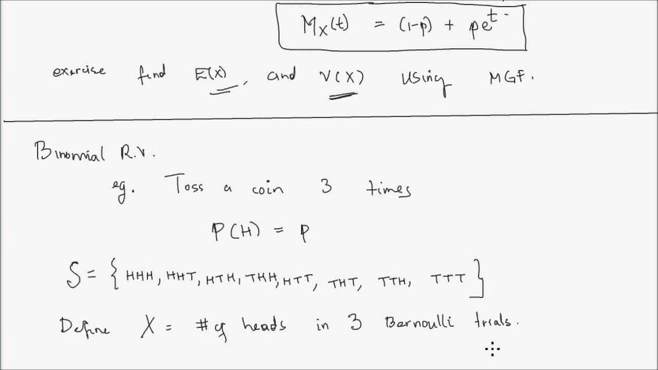 Lesson 16 Bernoulli and Binomial Distribution Part 1