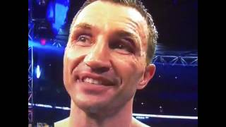 Wladimir Klitschko Classy Words after losing to Anthony Joshua