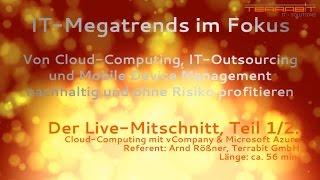 Terrabit Profi-Workshop, Teil 1: Nachhaltig von Cloud-Computing / IT-Outsourcing profitieren