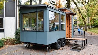 Tiny House Is Only 16' But Has Huge Windows