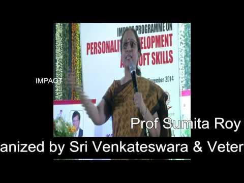 How English Communication is important by Prof Sumita Roy at Tirupati IMPACT