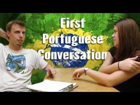 First Portuguese conversation | Learning Portuguese in one month
