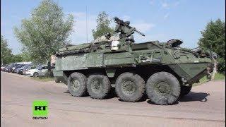 Was denken sie über US-Militärtransporte? Unterwegs in Brandenburg