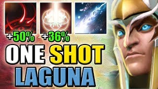 Imba Damage Amplification [+86% Soul Catcher + Test of Faith = One Shot Laguna] Dota 2 Ability Draft