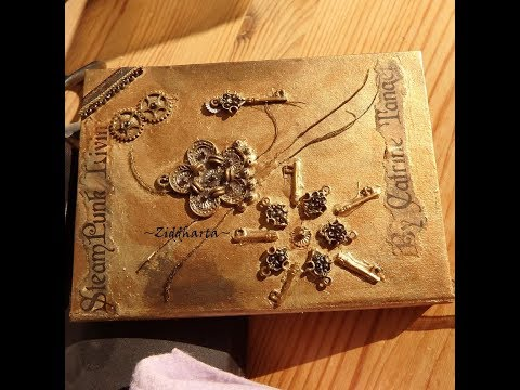SteamPunk bok: Bokbinderi Recycling Dekorerad med pärlor book binding Bead embellishment