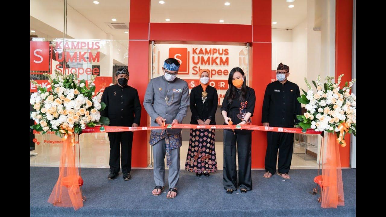 Ridwan Kamil Resmikan Kampus UMKM Shopee Ekspor di Jawa Barat