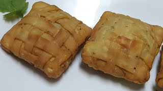 Checkerboard chesse samosa||How to make Mate style samosa Ramadan recipe by kitchen with Fatima