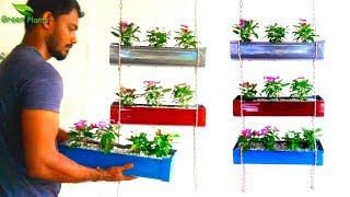 How to Make Vertical Garden | Indoor and Outdoor String Vertical Garden Planter//GREEN PLANTS