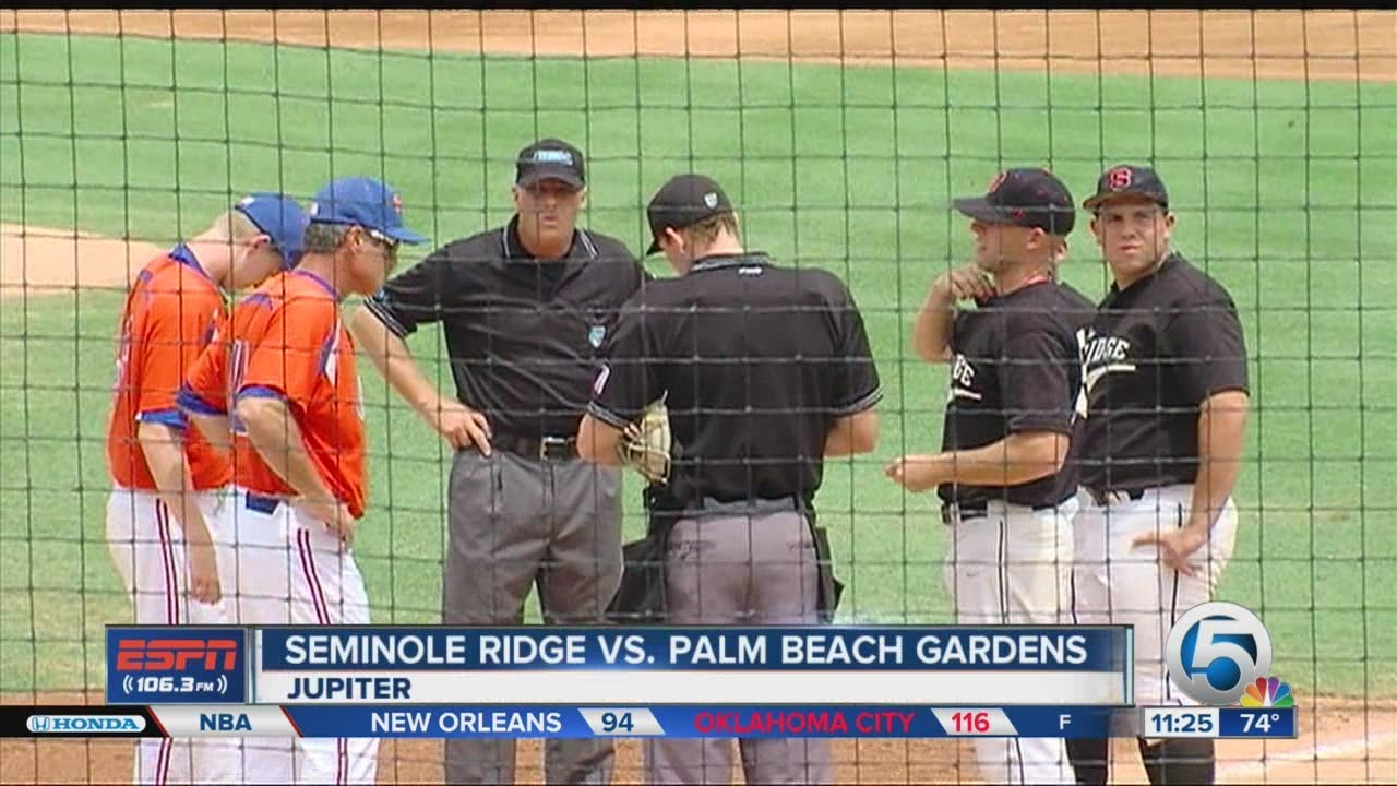 HS Baseball: Seminole Ridge vs. Palm Beach Gardens - YouTube