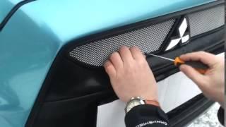 Установка защиты радиатора для Mitsubishi ASX Комплект 2010 2013 chrome