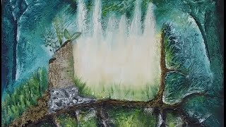 """Acrylic Painting Timelapse - """"Forest Clearing"""""""
