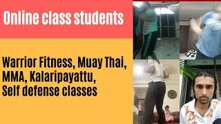 Online class students practice in lockdown