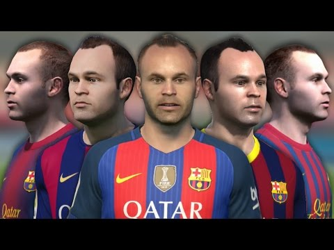 Andrés Iniesta from FIFA 04 to FIFA 17