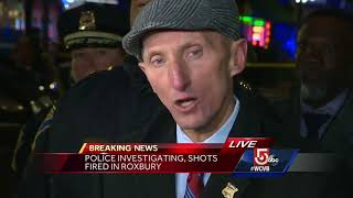 Officer hurt after shots fired in streets of Boston