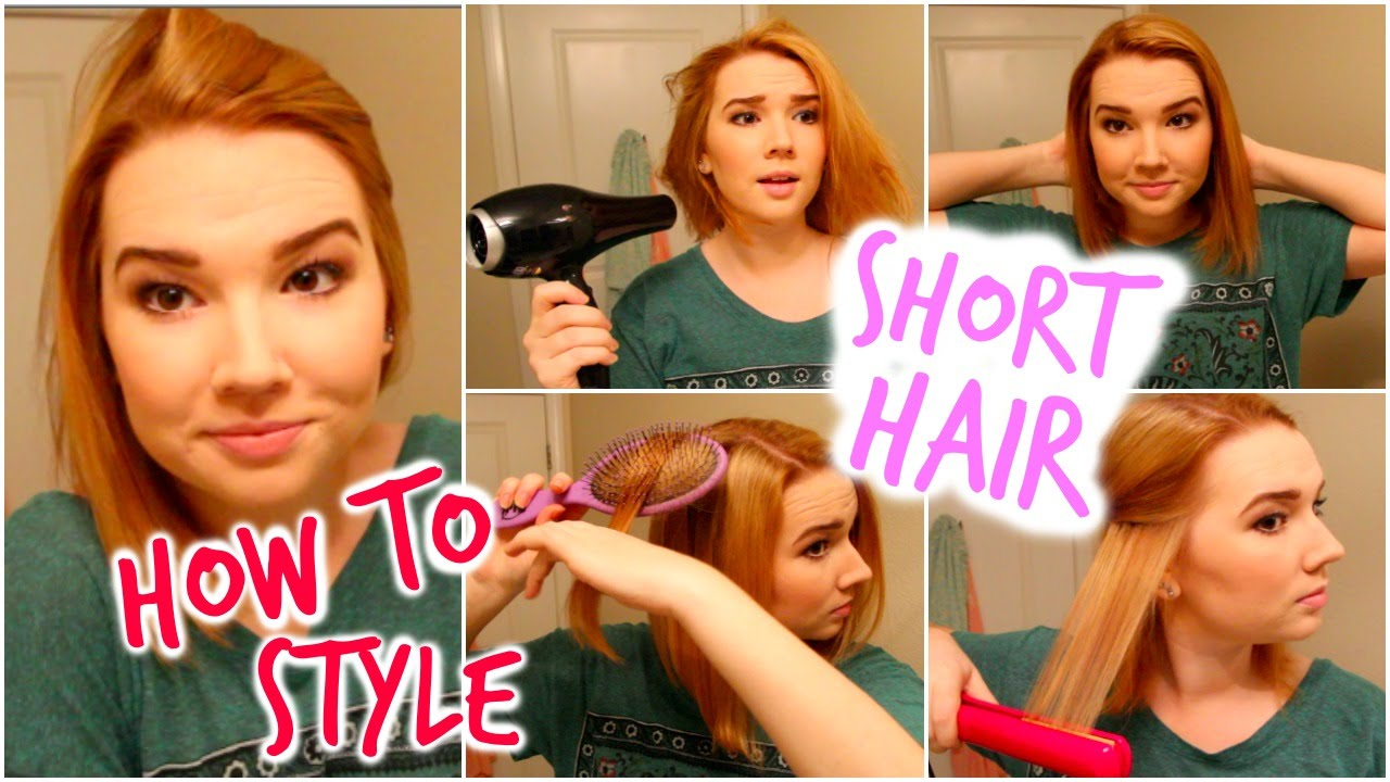 youtube short hair styling how i style my hair hughes 7328 | maxresdefault