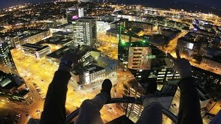 Teens climbed the tallest building in Estonia 117m