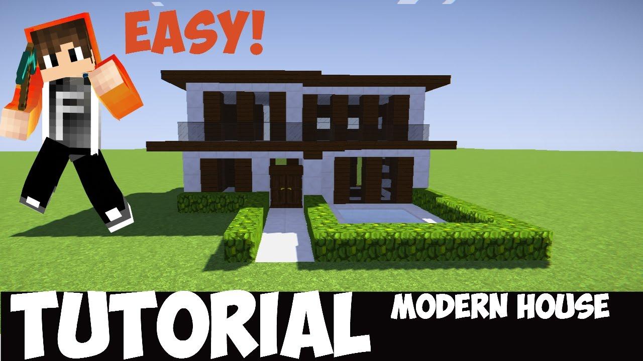 Minecraft Tutorial Cara Membuat Rumah Modern 3 Youtube