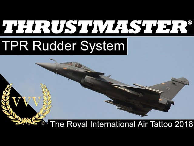 Thrustmaster TPR Rudder System at The Royal International Air Tattoo 2018