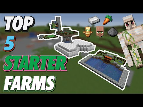 Easy TOP 5 EARLY GAME Farms | EASY STARTER FARMS 1.16