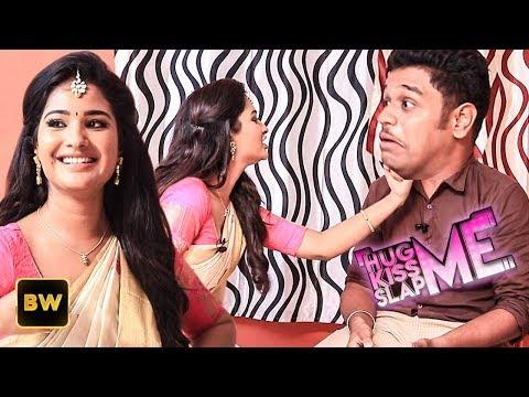 Nenjam Marappathillai Serial Heroine Sharanya in KISS Me 😘 HUG Me 💖 & SLAP Me 👊 Game | KHS