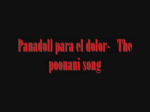 Panadoll para el dolor - The poonani song