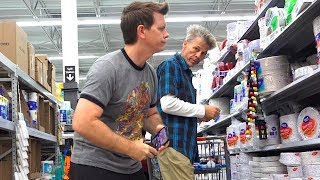 Farting at Walmart - MAN DOES THE POOTER DANCE