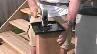 Small Backyard Deck Part7 - Installing A Titan 6x6 Post Anchor