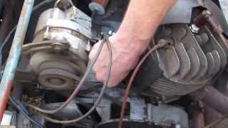 Запуск мотора инвалидки простоявшей 20 лет в гараже!