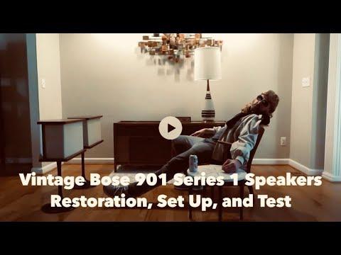 Vintage Bose 901 Series 1 Speakers Restoration, Set Up, And Test