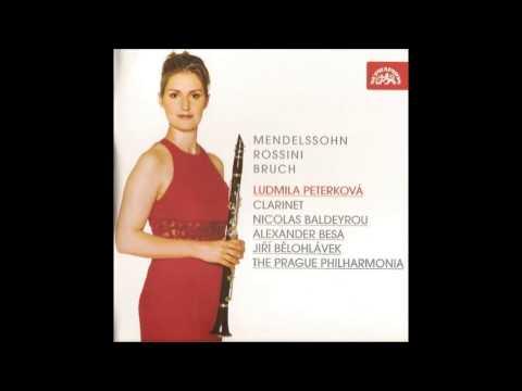 Mendelssohn,Bruch,Rossini Clarinet concertos, L. Peterkova, Jiri Belohlavek
