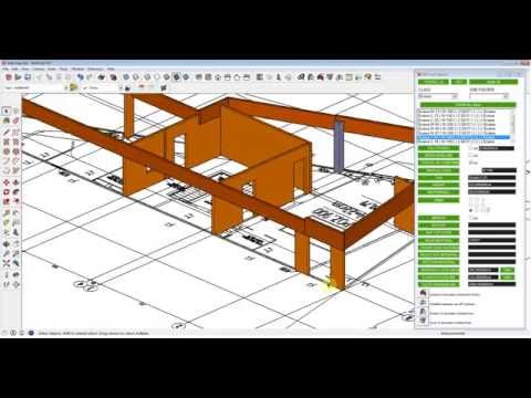 Sketchup structure BIM modeling with IFC classification