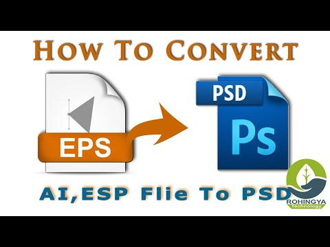 How To Convert Illustrator File AI & EPS File To Photoshop File - PSD