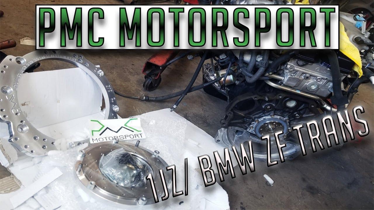 Pmc Motorsport 1jz/ Bmw transmission final installation!!!# Motors going  back in!#