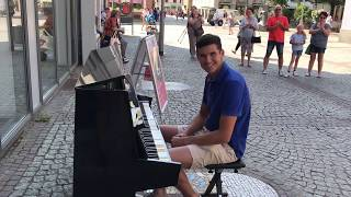 Alan Walker - Faded Street Piano Performance Offenburg