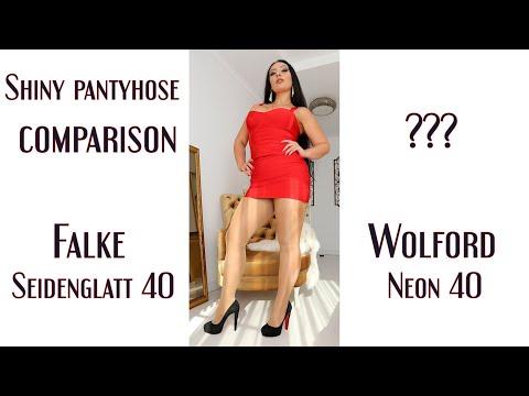 The shiniest 40 DEN Pantyhose: Wolford vs Falke comparison
