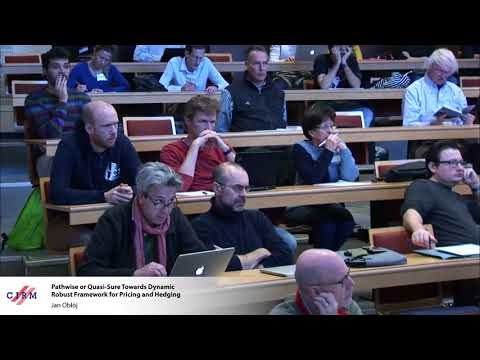 Jan Obłój: Pathwise or quasi-sure towards dynamic robust framework for pricing and hedging