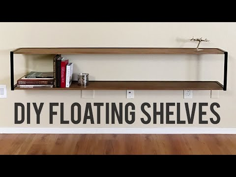 DIY Modern Floating Bookshelf // Woodworking and Welding