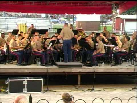 US Marine Corps Band New Orleans plays at Fairgrounds in Lancaster Ohio